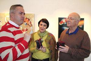 Mo Fontaine im Gespräch mit Max Grandmontagne und Pascal Rambaud, Foto: Hanne Voltmer-Döbrich